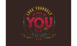 Le meilleur amour cite, inspirant des citations d'amour, des citations de motivation Images stock