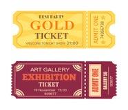 Le meilleur billet Art Gallery Exhibition Icon d'or de partie Photo stock