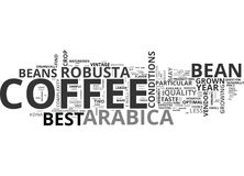 Le meilleur café Bean Word Cloud Image libre de droits