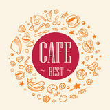 Le meilleur café de titre Illustration Stock