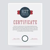 Le meilleur certificat bien choisi Photographie stock libre de droits