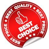 Le meilleur choix illustration libre de droits