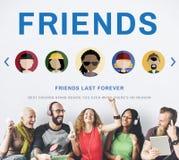 Le meilleur concept d'amour de soutien d'amis Photo libre de droits