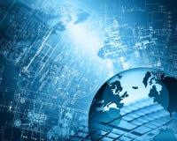 Le meilleur concept d'Internet des affaires globales de série de concepts Photo libre de droits
