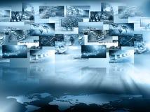 Le meilleur concept d'Internet des affaires globales de série de concepts Photos libres de droits