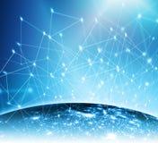Le meilleur concept d'Internet des affaires globales Fond technologique, symboles Wi-Fi, de l'Internet, télévision, mobile Photo stock