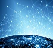 Le meilleur concept d'Internet des affaires globales Fond technologique, symboles Wi-Fi, de l'Internet, télévision, mobile Images stock