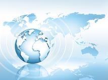 Le meilleur concept d'Internet des affaires globales Globe, lignes rougeoyantes sur le fond technologique L'électronique, Wi-Fi,  Image stock