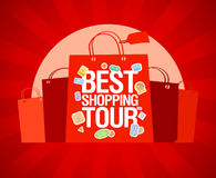 Le meilleur descripteur de conception d'excursion d'achats. Image stock