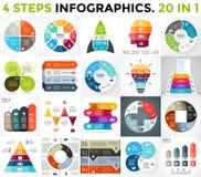 Le meilleur ensemble d'infographics de vecteur Les affaires diagrams, des graphiques de flèches, présentations de démarrage calib illustration de vecteur