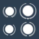 Le meilleur ensemble de guirlande de laurier de récompense de vecteur de récompense Label de gagnant, victoire de symbole de feui Image stock