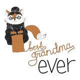 Le meilleur graphique de grand-maman illustration libre de droits