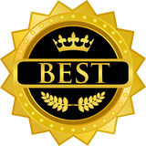Le meilleur insigne d'or image libre de droits