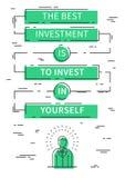 Le meilleur investissement est d'investir dans vous-même la citation de motivation Images libres de droits