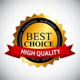 Le meilleur label bien choisi avec l'illustration de vecteur de ruban illustration libre de droits