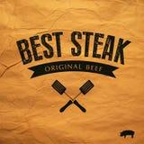 Le meilleur label de bifteck illustration libre de droits