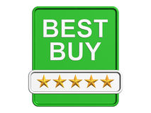 Le meilleur logo d'achat. D'isolement sur le fond blanc Images stock