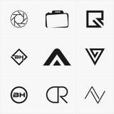 le meilleur logo d'icône a placé pour vos affaires Photo stock