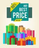Le meilleur prix chaud escompte la vente superbe du total final 90 Image stock
