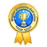 Le meilleur produit du ruban de langue italienne de récompense d'année Photo libre de droits