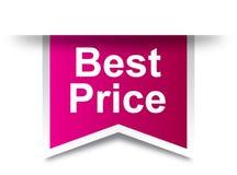 Le meilleur rose de label de prix à payer illustration de vecteur