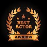 Le meilleur ruban de laurier de guirlande de récompense d'acteur illustration de vecteur