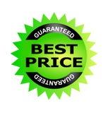Le meilleur sceau de garantie des prix Image stock
