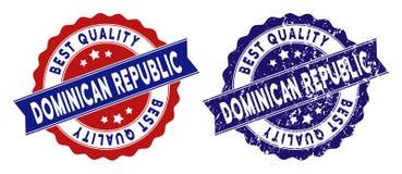 Le meilleur timbre de qualité de la République Dominicaine avec l'effet de détresse illustration libre de droits