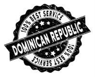 Le meilleur timbre de service de la République Dominicaine avec le style grunge illustration de vecteur