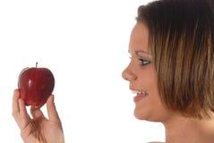 Le mele fanno una dieta di salute. fotografie stock