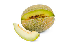 Le melon de coupure Photo stock
