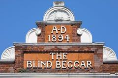 Le mendiant aveugle Pub à Londres images libres de droits