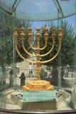 Le Menorah d'or de Jérusalem, Israël Images libres de droits