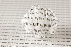 Le mensonge ou rectifient Image libre de droits
