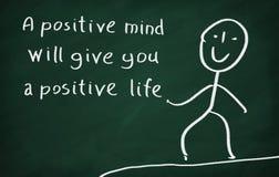 Le menti positive vi daranno una vita positiva Immagini Stock Libere da Diritti