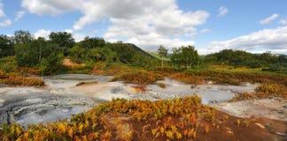 Le meraviglie della caldera del Kamchatka- Uzon Immagine Stock