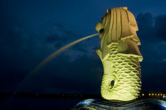 Le Merlion Photos libres de droits