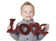 Le message d'un enfant de l'amour photos stock