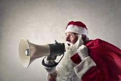 Le message de Santa Images stock