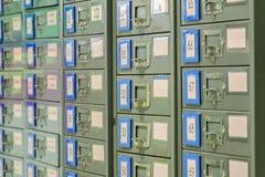 Le meuble d'archivage est en acier Utilisé pour le stockage de documents Il est très images libres de droits