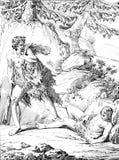 Le meurtre d'Abel illustration de vecteur