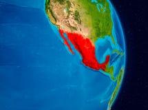 Le Mexique de l'espace Image libre de droits