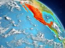 Le Mexique de l'orbite Photos stock