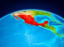 Le Mexique de l'orbite Photographie stock
