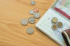 Le Mexique emboutit le passeport de pièces de monnaie Images libres de droits