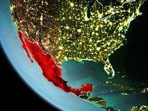 Le Mexique la nuit sur terre Image libre de droits