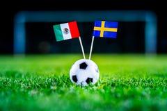 Le Mexique - la Suède, groupe F, mercredi, 27 Juin, le football, monde C photos stock