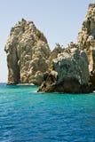 Le Mexique - le Cabo San Lucas - roches et plages Photo stock