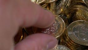 Le Mexique 10 pesos - ces pièces de monnaie sont bimétalliques banque de vidéos