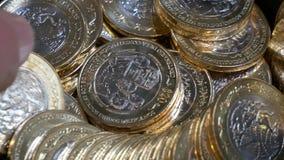 Le Mexique 20 pesos - perception d'argent banque de vidéos